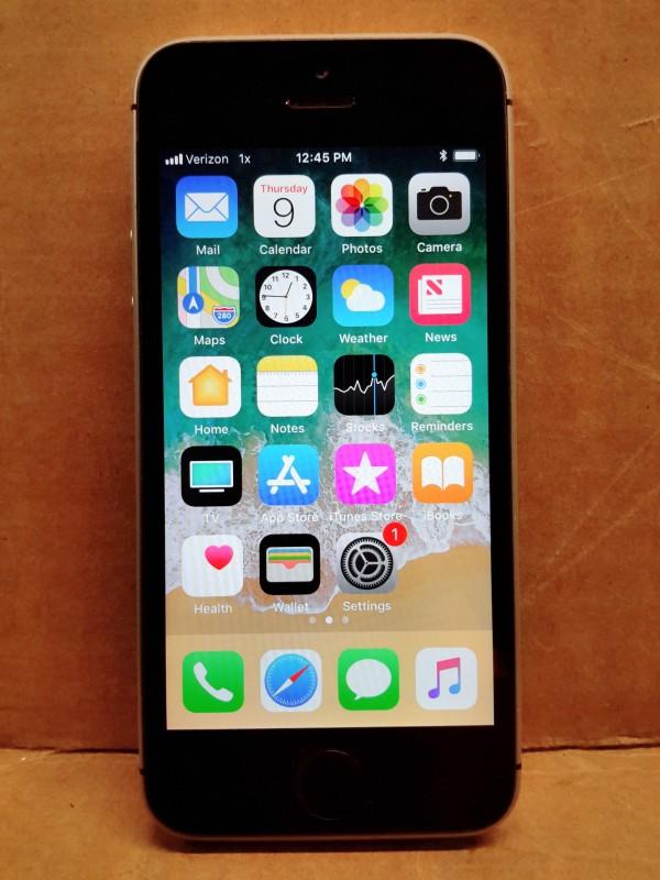 iBid Lot # 12564 - Apple iPhone SE Space Gray Verizon LTE ...