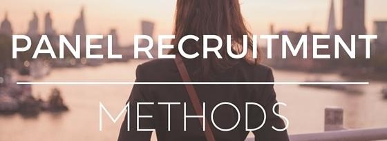 Panel Recruitment Methods
