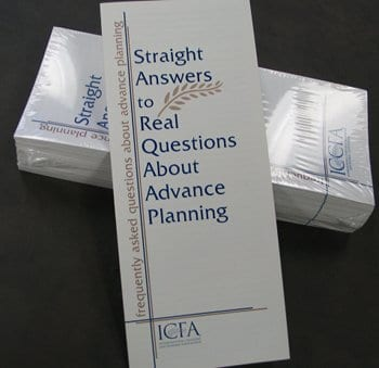 Front page of Straight Answers to Real Questions about Advance Planning brochure