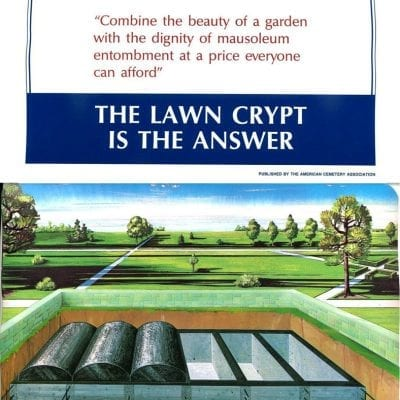"""Front cover of """"The Lawn Crypt is the Answer"""" book"""