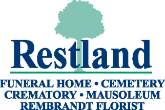 Restland Funeral Home Logo with Tagline