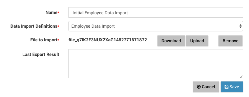 Create data import file