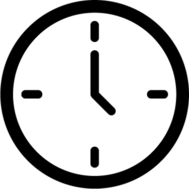 Clock icon - watch, tool, time, clock, square