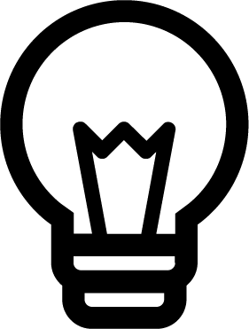 Lightbulb free icon