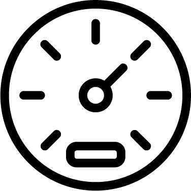 Speedometer icon - dashboard, gauge, speedometer