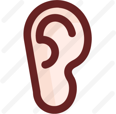 Ear icon - sound bars, sound waves, listening, deaf, ear, ears, listen, medical