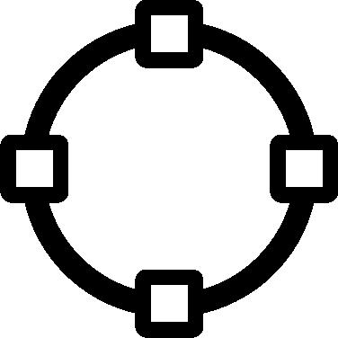Vector path circle