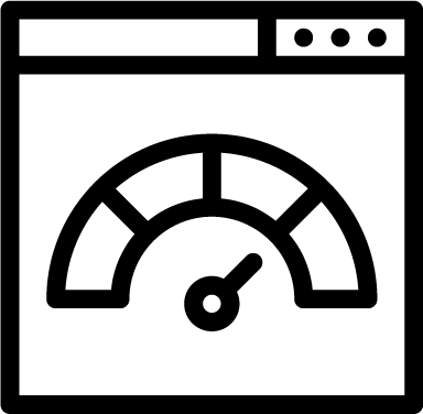 Speedometer icon - velocity, measuring, browser, website, speedometer, multimedia