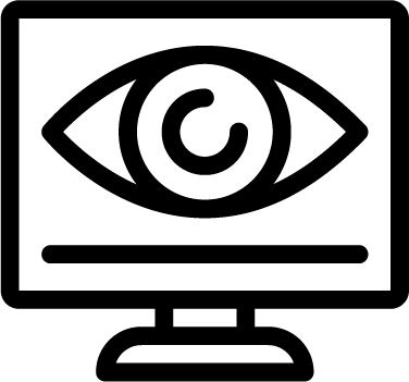 Monitoring icon - monitoring, eye, search, screen, monitor, technology