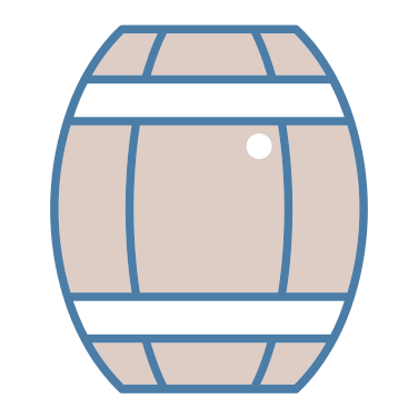 barrel icon - drink, alcohol, alcoholic drink, barrel, pub, cask, alcoholic drinks, food and restaurant