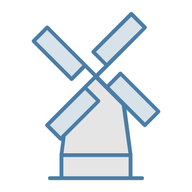 mill icon - nature, buildings, ecological, ecology, mill, windmill, ecology and environment