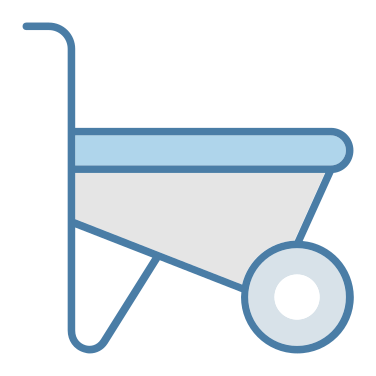 wheelbarrow free icon
