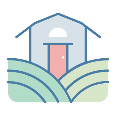barn icon - buildings, farm, barn, grain, architecture and city, farming and gardening