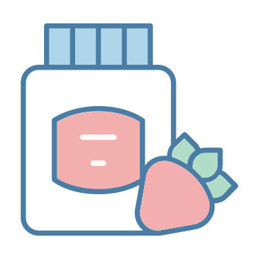 jam icon - strawberry, food, breakfast, jar, jam, conserve, food and restaurant