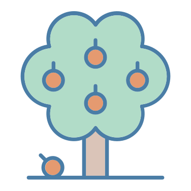 orange tree free icon