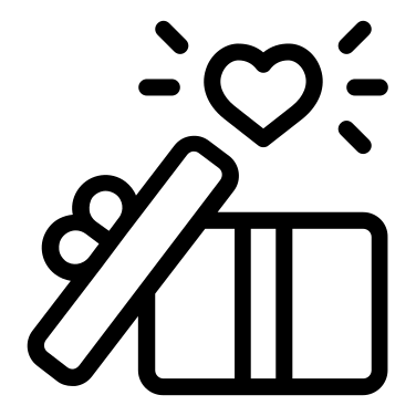 Gift free icon