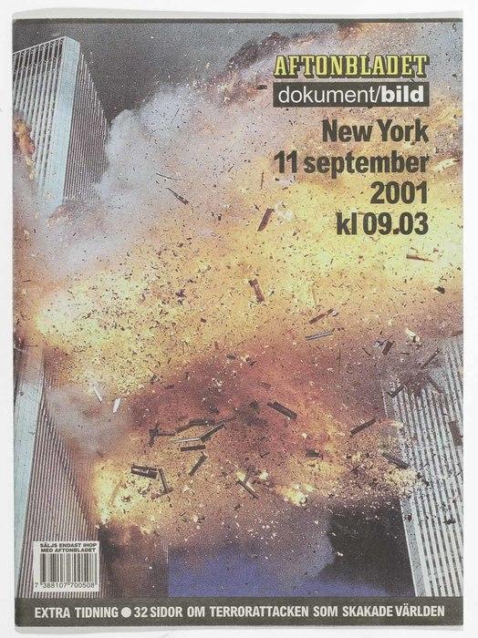 Newspaper: New York 11 september 2001 kl 09.03