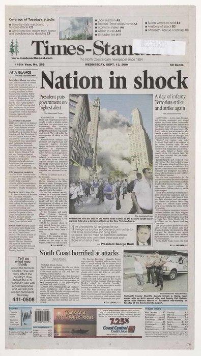 Newspaper: Nation in Shock
