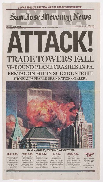 Newspaper: Attack! Trade Towers Fall