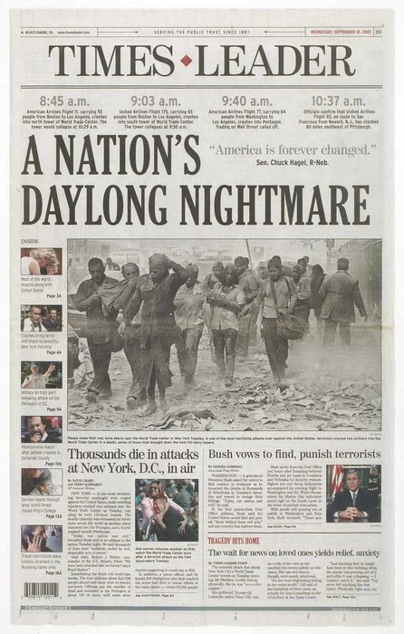 Newspaper: A Nation's Daylong Nightmare