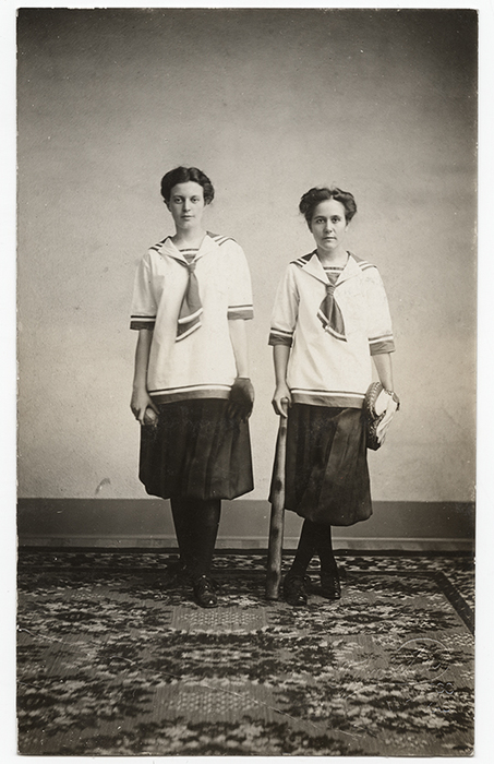 [Two Female Baseball Players]