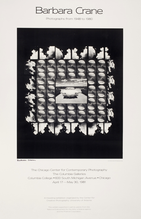 [Exhibition poster for Barbara Crane: Photogrpahs from 1948 to 1980, Chicago Center for Contemporary Photography]