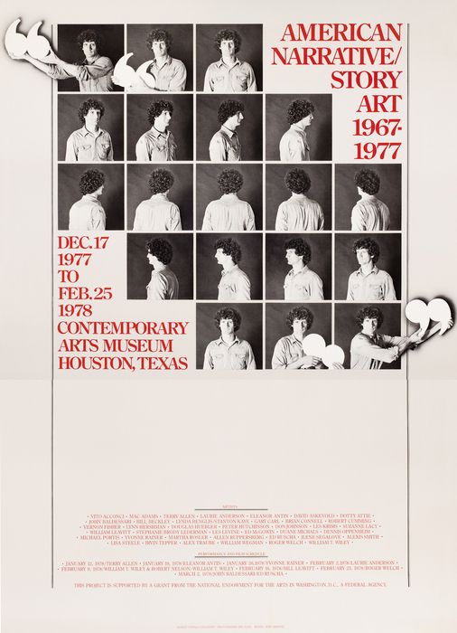 [Exhibition poster for American Narrative/Story Art, Contemporary Arts Museum Houston]