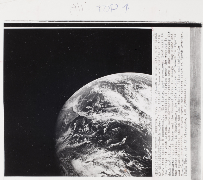 [View of Earth taken from Apollo 8]