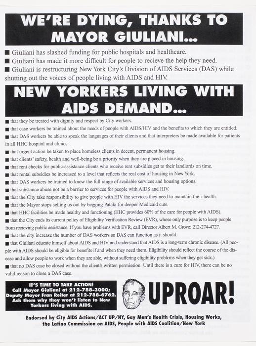 We're Dying, Thanks to Mayor Giuliani...