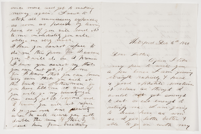 [Letter from Burton Beal in Waterford, Virginia, to Albert Beal in Augusta, Maine]