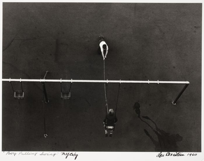 Boy Pulling Swing, New York