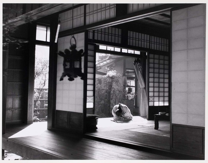 [Priest resting, Temple of Ryoanji, Kyoto]