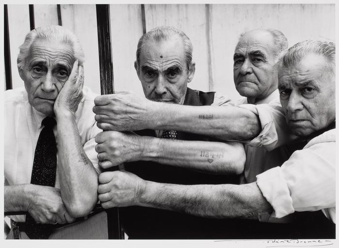 [Four Holocaust survivors, Salonika, Greece]