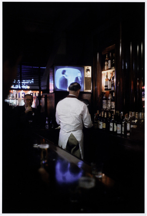 [The fourth and last of the Kennedy-Nixon debates (held in New York City), as seen on the television of a bar, New York]