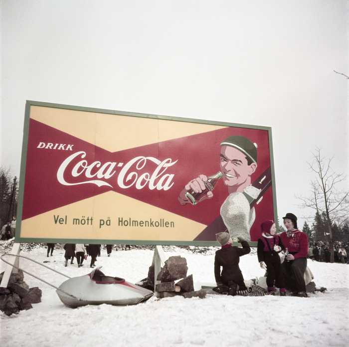 [Coca-Cola sign at the Winter Olympics, Oslo]