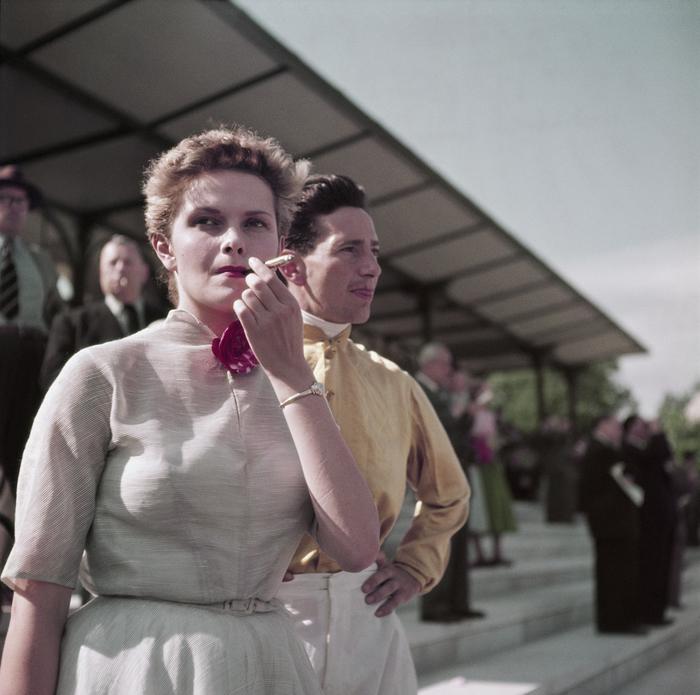 [Gen X girl, Colette Laurent, at the Chantilly racetrack, France]