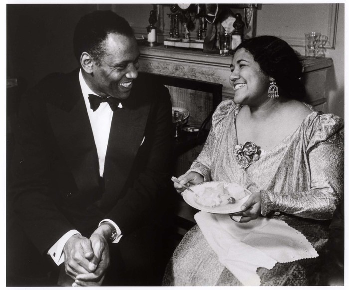 [Dorothy Maynor and Paul Robeson at the party following the soprano's Town Hall debut, New York ]