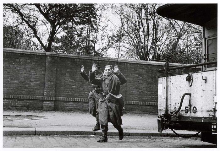 [German soldiers surrendering, Leipzig, Germany]