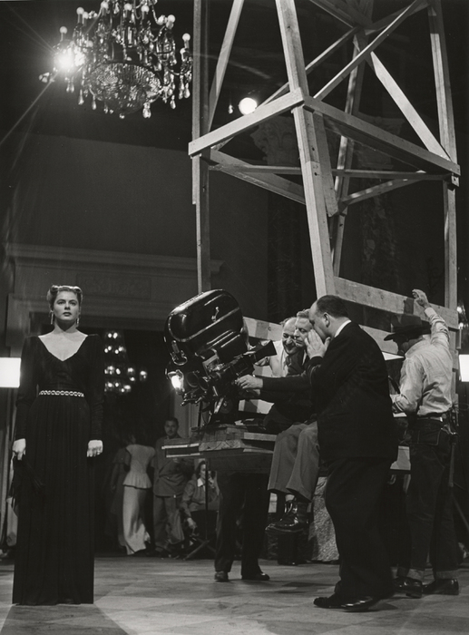 [Ingrid Bergman and Alfred Hitchcock on the set of Notorious, Hollywood]