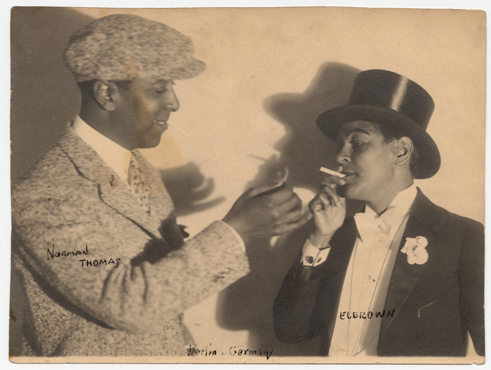 [Norman Thomas and E.L. Brown (Lillyn Brown)]