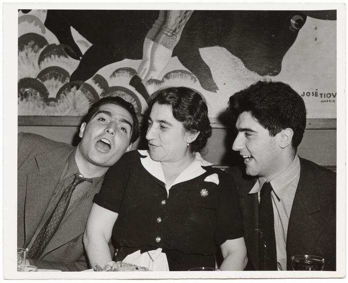 [Robert Capa, Julia Capa and Cornell Capa, New York]