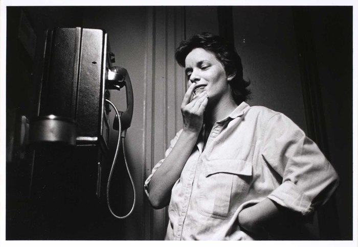 Woman thinking about calling