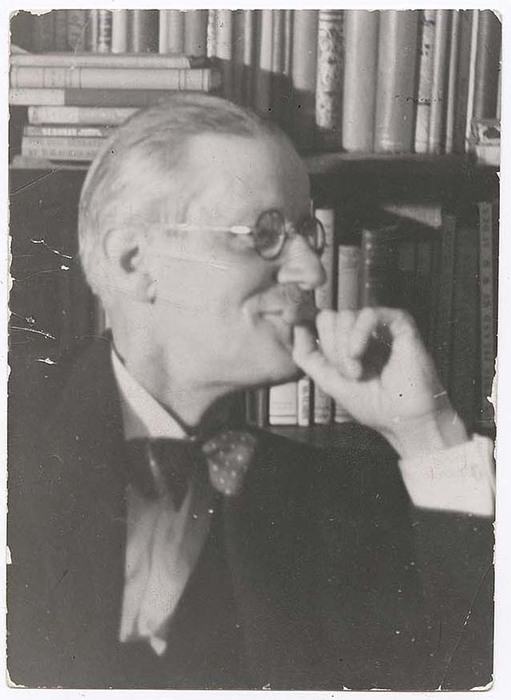 [Portrait of Irish author James Joyce]