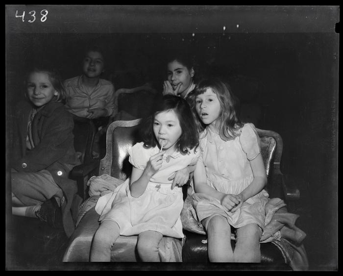 [Children watching movie, New York]