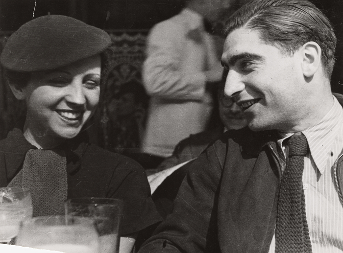 [Gerda Taro and Robert Capa, Cafe de Dome, Paris]