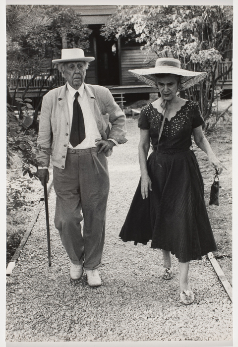 Frank Lloyd Wright and his wife