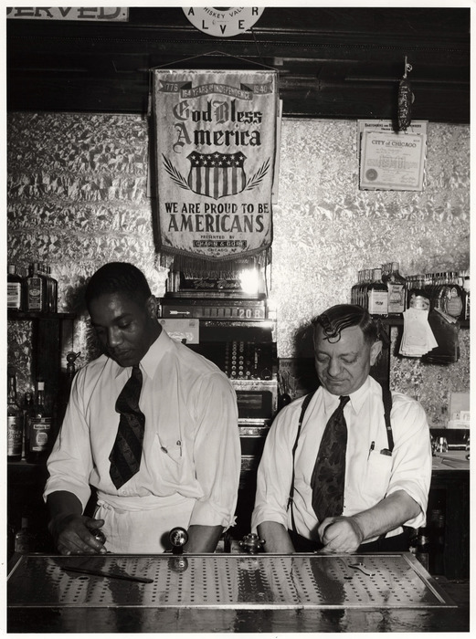 Bartender and owner of a tavern on the South Side