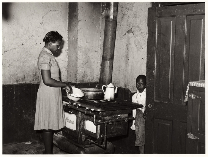 Corner of a kitchen of an apartment rented to Negroes