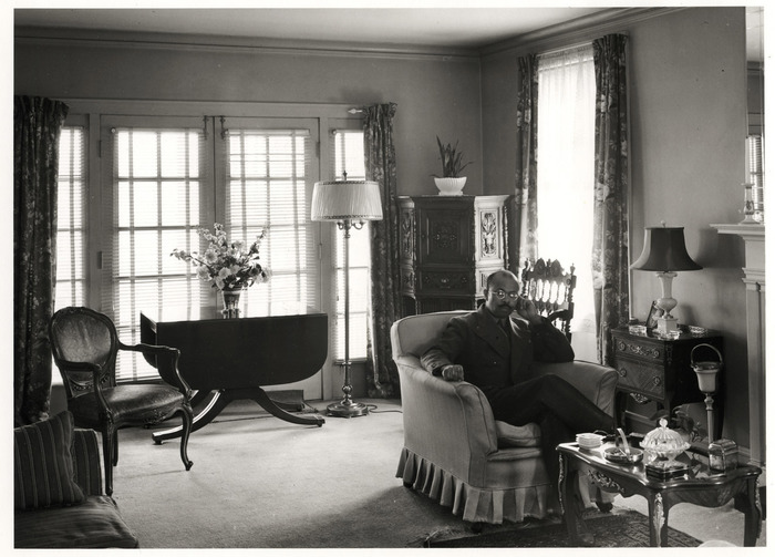Living room in the home of a well-to-do Negro