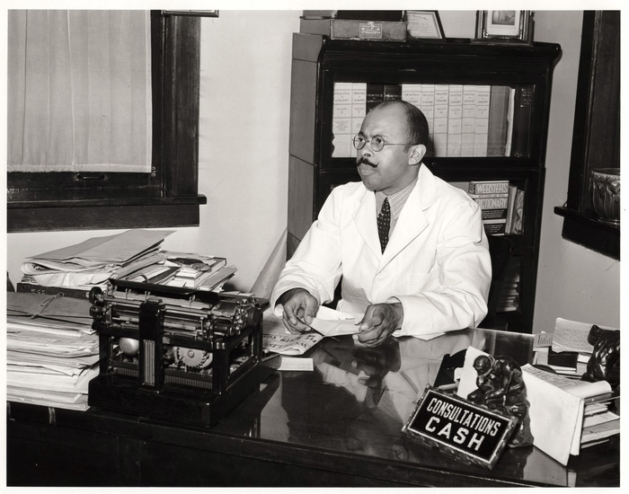 Doctor in his office in the South Side